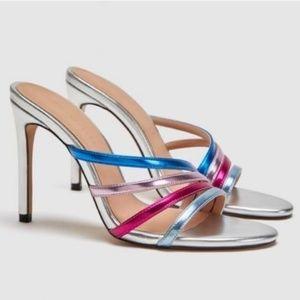 ZARA Muliticolor   High Heel Strappy Sandals
